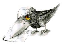 Oiseau de poteau illustration libre de droits