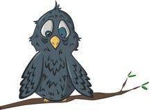 Oiseau de sommeil sur une branche illustration stock