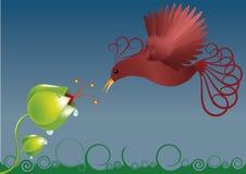 Oiseau de source illustration libre de droits