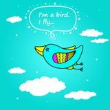 Oiseau de vol Photographie stock libre de droits