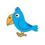 Oiseau debout mignon Images libres de droits