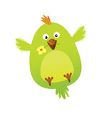 Oiseau drôle avec le message d'amour Photographie stock