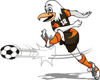Oiseau du football Photo stock