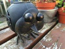 Oiseau en métal Images stock