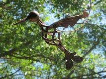Oiseau en métal Images libres de droits