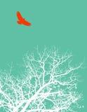 Oiseau et arbre Photos stock