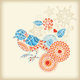 Oiseau floral Photos libres de droits