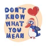 OISEAU FOL Valentine Day Cartoon Animal Set illustration libre de droits