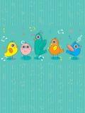 Oiseau Group_eps illustration de vecteur