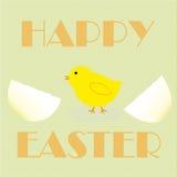Oiseau heureux de Pâques Image stock