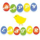 Oiseau heureux de Pâques Photographie stock