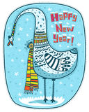 Oiseau, hiver et bonne année Photo stock