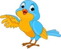 Oiseau mignon de dessin animé Image libre de droits