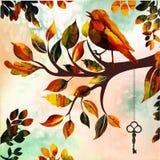Oiseau peint - édition d'aquarelle Photo stock