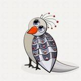 Oiseau pensif illustration stock