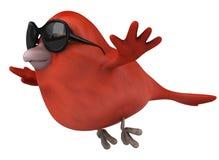 Oiseau rouge illustration libre de droits