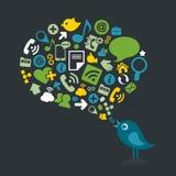 Oiseau social Images libres de droits