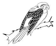 Oiseau sur le fond blanc pour la coloration Images stock