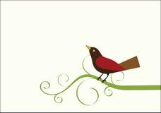 Oiseau sur une vigne Image libre de droits