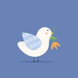 Oiseau tenant une fleur Images stock