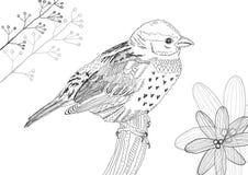 Oiseau tiré par la main Images stock