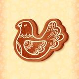 Oiseau traditionnel de bonbon à Noël de vecteur fleuri Image libre de droits