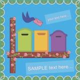 Oiseau une boîte aux lettres Photo stock