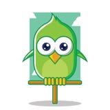 Oiseau vert Photo libre de droits