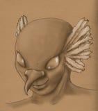 Oiseau - visage d'homme Image libre de droits
