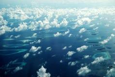 Oiseau-vue des Maldives Photographie stock libre de droits