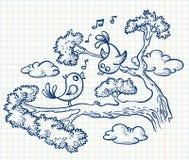 Oiseaux illustration de vecteur