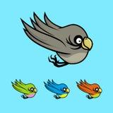 Oiseaux colorés de bande dessinée illustration libre de droits