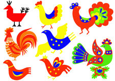Oiseaux décoratifs Image libre de droits