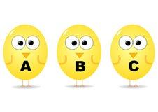 Oiseaux d'alphabet Photos libres de droits