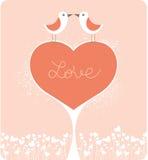 Oiseaux d'amour Photo stock