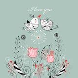 Oiseaux d'amour illustration libre de droits