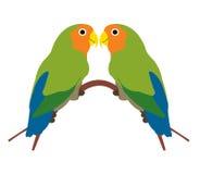 Oiseaux d'amour Photographie stock