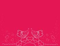 Oiseaux d'amour de cadeau Photographie stock libre de droits