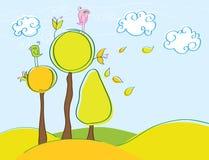 Oiseaux d'automne Image libre de droits