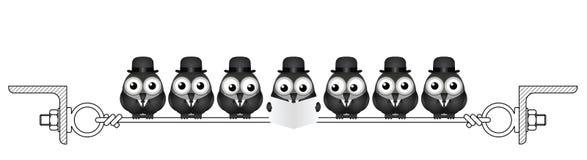 Oiseaux d'hommes d'affaires illustration de vecteur