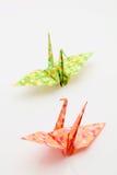 Oiseaux d'Origami Photographie stock libre de droits
