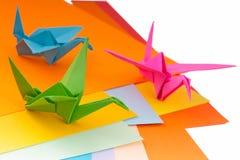 Oiseaux d'Origami Photo stock