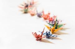 Oiseaux d'Origami Photos libres de droits