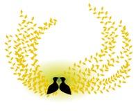 Oiseaux dans l'amour Photo libre de droits