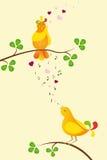 Oiseaux dans l'amour Image libre de droits