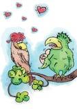 Oiseaux dans l'amour Photos libres de droits