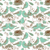 Oiseaux dans l'amour. configuration sans joint Images libres de droits