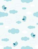 Oiseaux dans le ciel illustration de vecteur