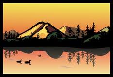 Oiseaux dans le lac Images libres de droits