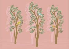 Oiseaux dans les arbres Photo libre de droits